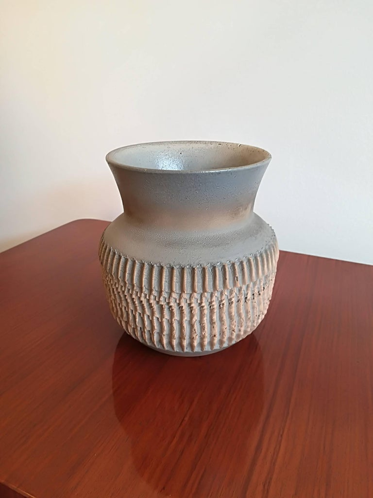 French Jean Besnard Art Deco Ceramic Vase, circa 1930 For Sale