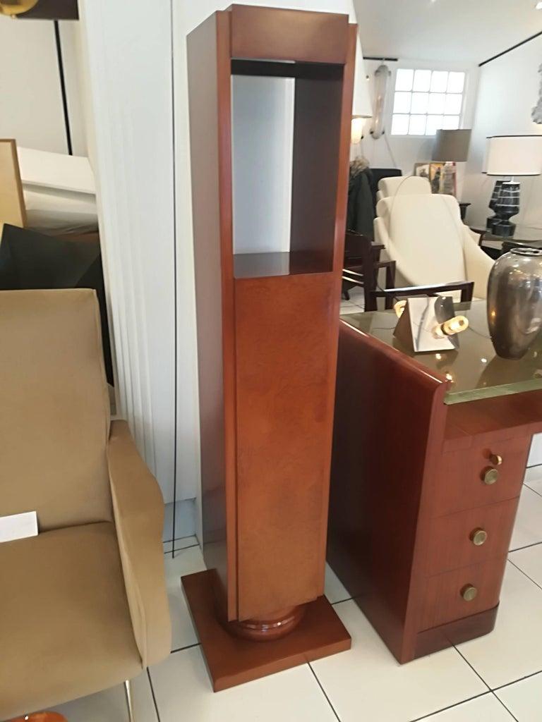 French Art Deco Amboyna Burl Pedestal Circa 1930 For Sale