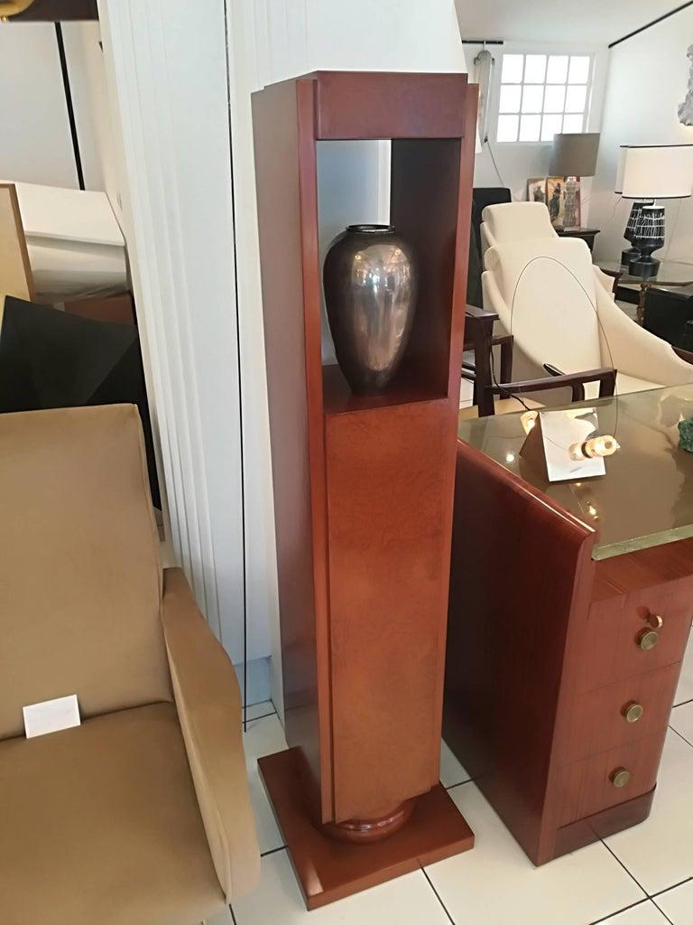 Art Deco Amboyna Burl Pedestal Circa 1930 For Sale 1