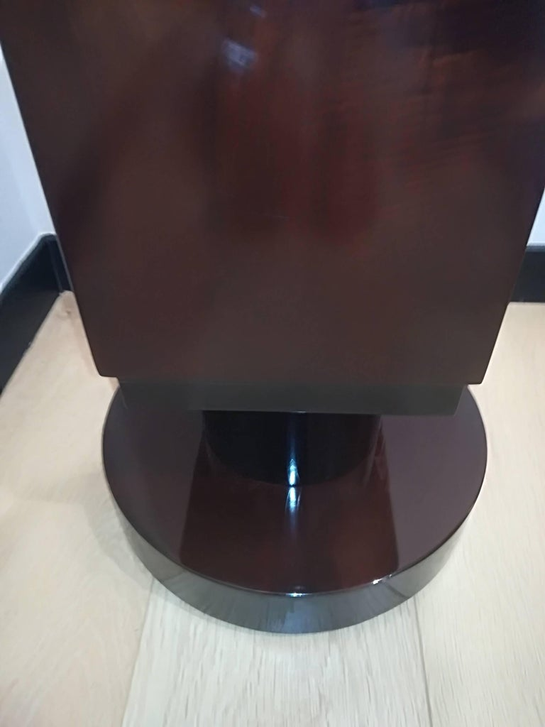 French Art Deco Rosewood Pedestal Circa 1930 For Sale