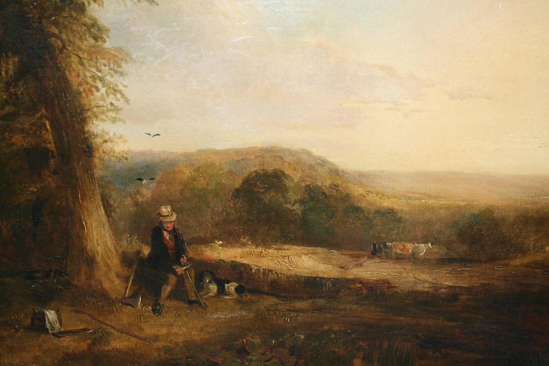 Fine Romantic 18th Century Landscape Painting For Sale At