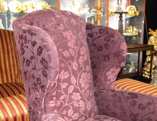 Antique English Victorian High Back Mahogany Armchair For Sale at ...