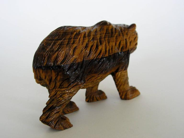 Very fine russian carved tigereye stone bear for sale at