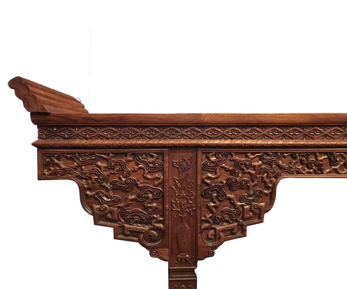 Family Altars For Sale: Impressive Large Chinese Huanghuali Altar Table For Sale