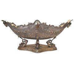 Antique Large Silver Plated Centerpiece Bowl