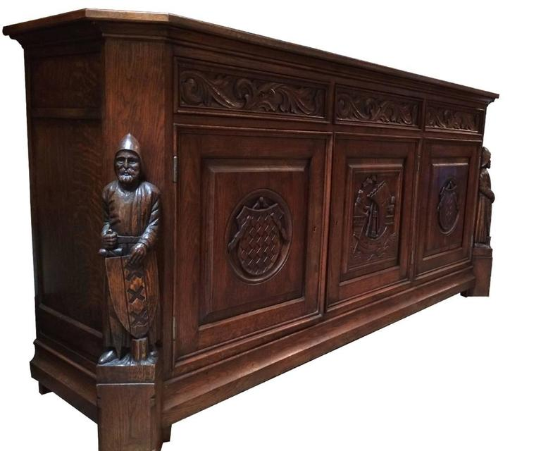 Greatest Antique French Oak Gothic Style Sideboard or Credenza at 1stdibs FX27