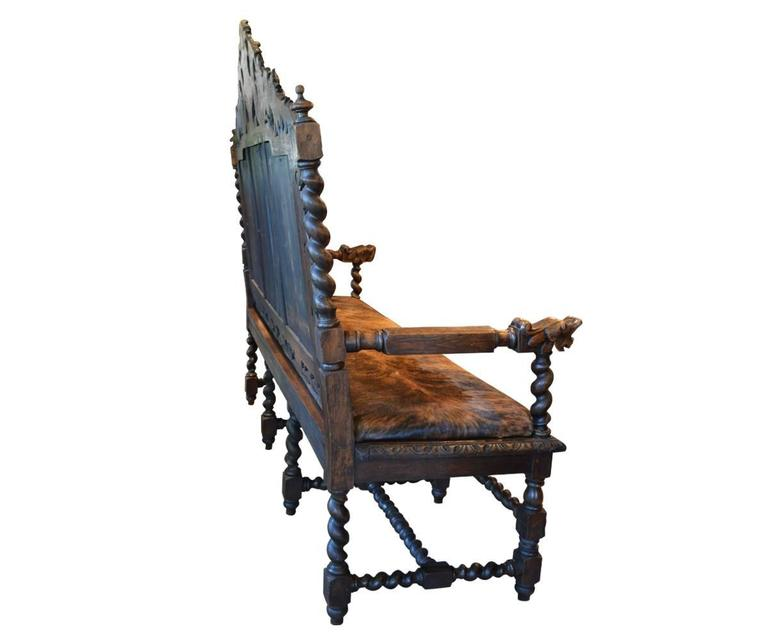 Antique European Gothic Style Hand Carved Bench At 1stdibs