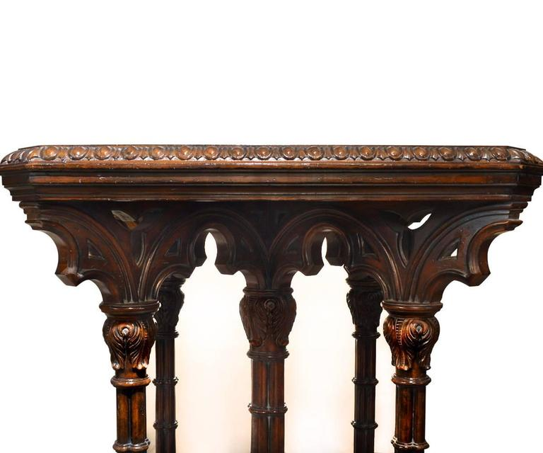 Gothic Style Game Table At 1stdibs