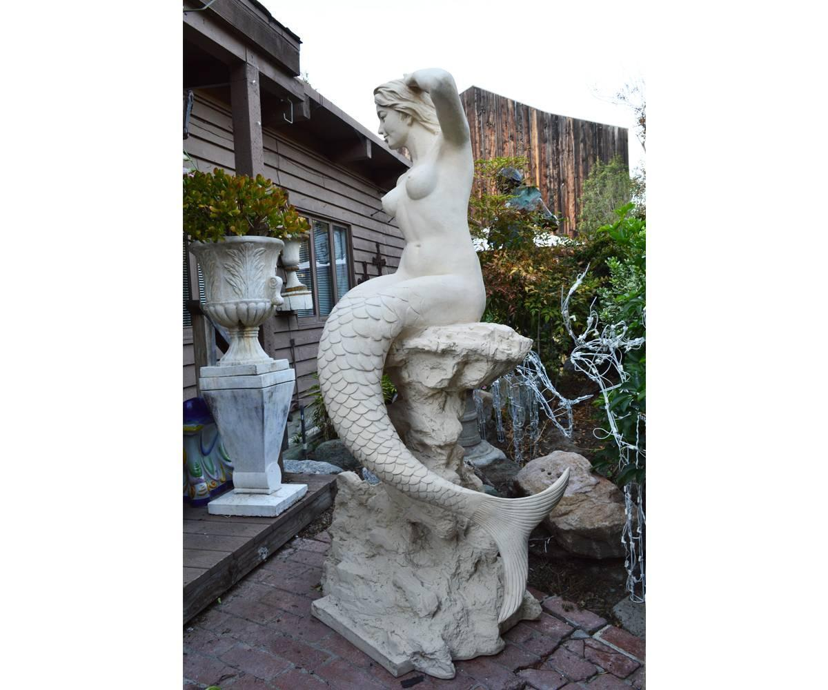 Life size mermaid statue for sale at 1stdibs for Large photos for sale