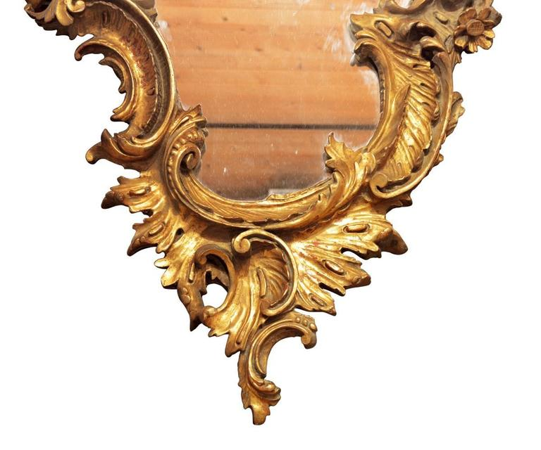 Offered is this fantastic Louis XV hand-carved French gilt wall 19th century wall mirror.