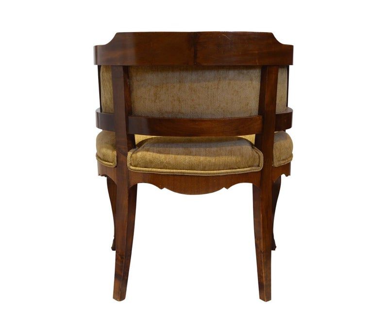 Gany Three Piece Library Set With Desk Chair And Bookcase Louis Xv Style For