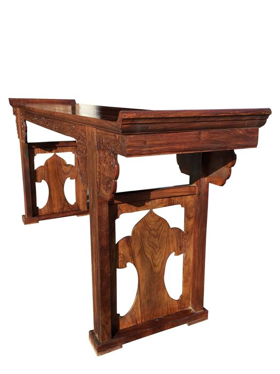 Chinese Export Fine Chinese Huanghuali Wood Altar Table For Sale