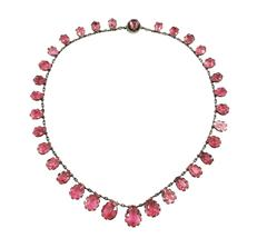 Rare Antique Pink Tourmaline Riviere Necklace, circa 1880