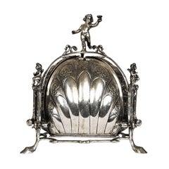 Silver Muffin Bun Warmer Centerpiece Germany, 19th Century