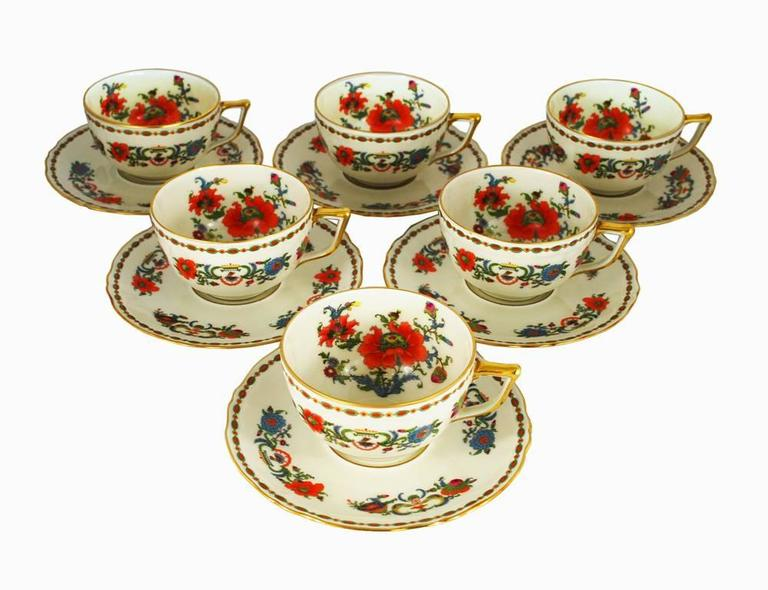 Vintage Limoges Dinner Service Set, Ceralene Vieux Chine Pattern at ...