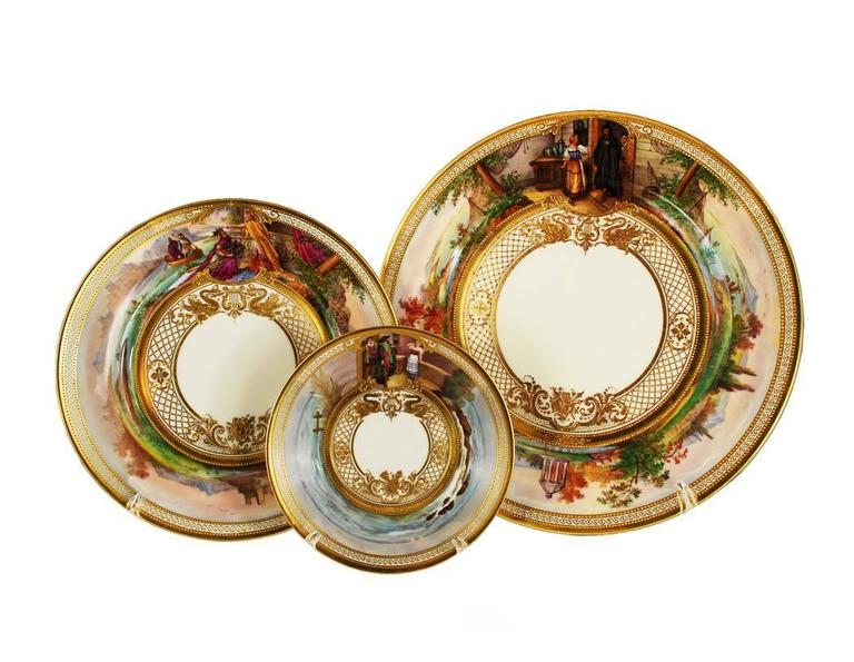 We present one of the finest dinner services made by Dresden Ambrosius Lamm Studio. This  sc 1 st  1stDibs & Important Dresden Ambrosius Lamm Opera Set Vintage Dinner Service ...
