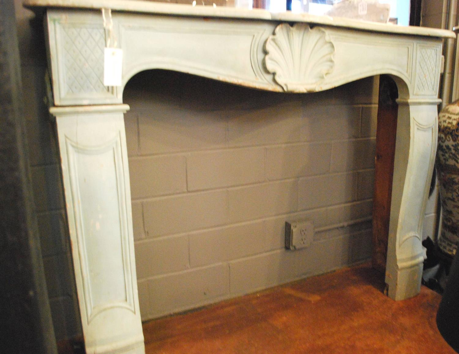 Antique French Mantel Fireplace Surround Circa 1900 At