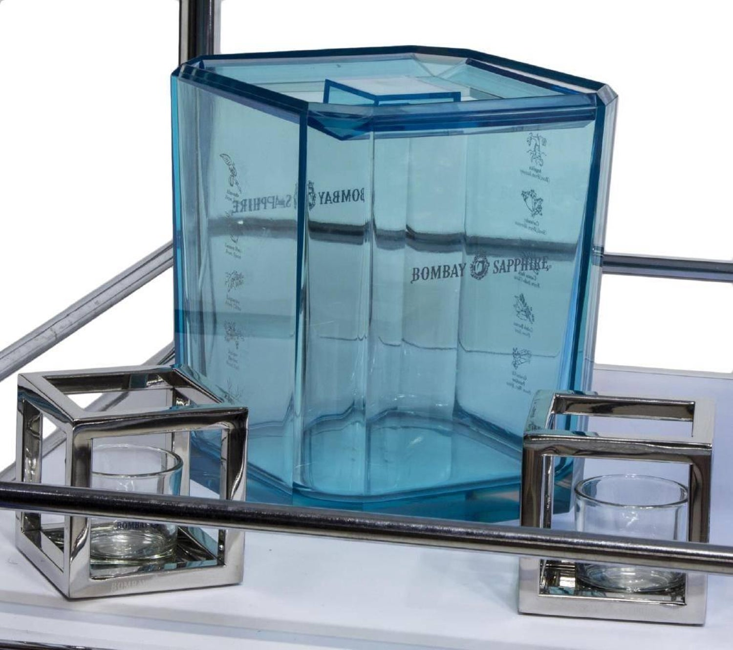 Bar Cart Set Trolley Acrylic Barware by Bombay Sapphire For Sale at ...