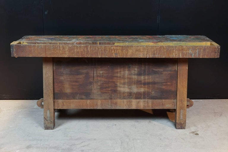 European Primitive Work Bench from France, circa 1940 For Sale