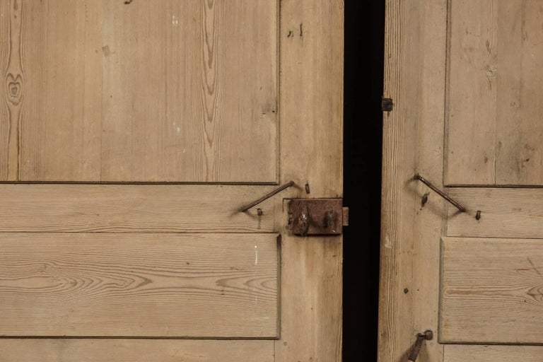 Early 19th Century Pair of Primitive Doors from Sweden, circa 1820 For Sale