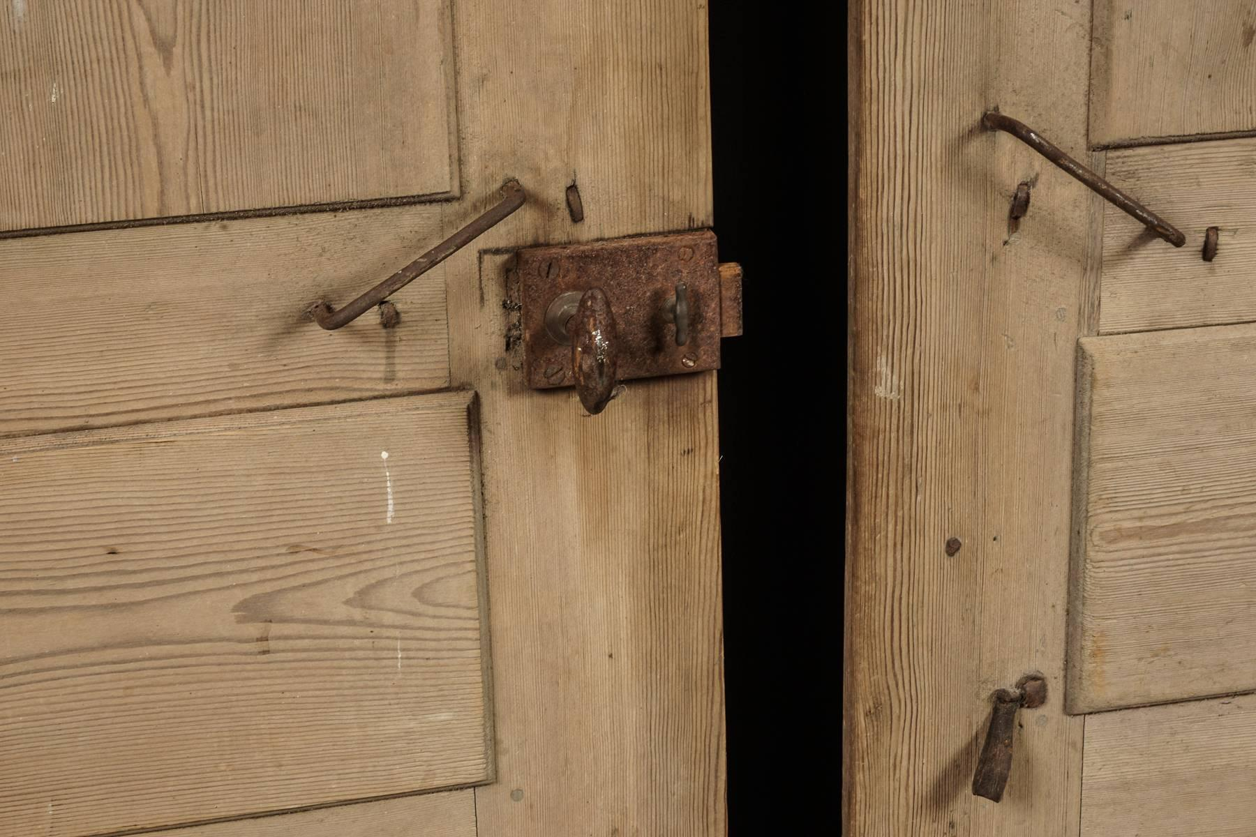 Pair of Primitive Doors from Sweden circa 1820 For Sale 1 & Pair of Primitive Doors from Sweden circa 1820 at 1stdibs