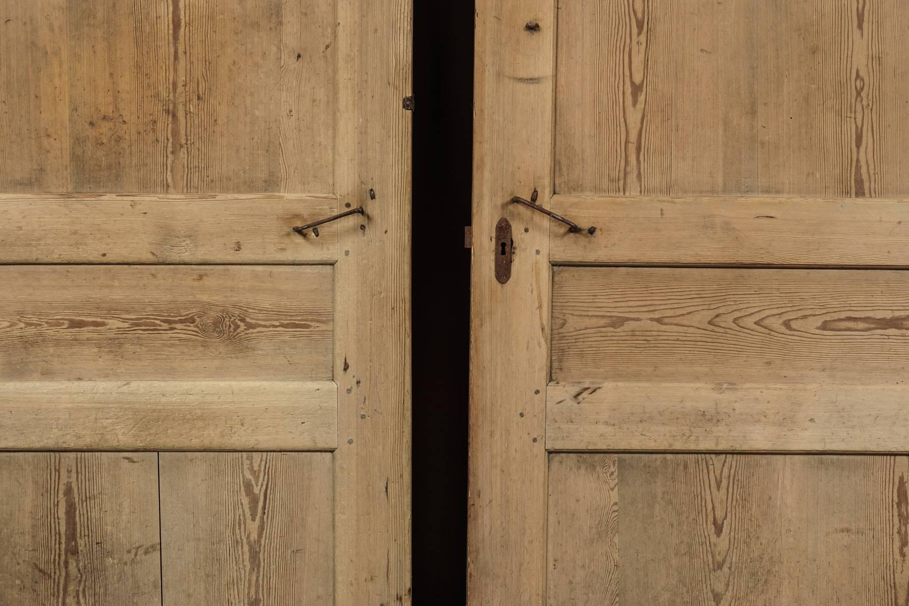 Pair of Primitive Doors from Sweden circa 1820 In Good Condition For Sale In Nashville & Pair of Primitive Doors from Sweden circa 1820 at 1stdibs