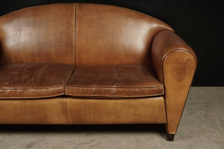 Late 20th Century Rare Midcentury Leather Sofa From the Netherlands, circa 1970 For Sale