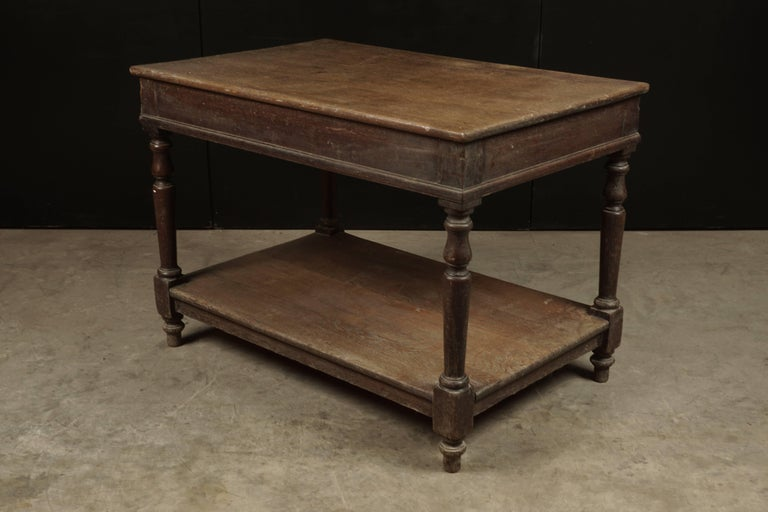 French Console Table in Oak, circa 1920 In Good Condition For Sale In Nashville, TN