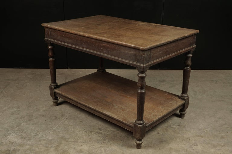 French Console Table in Oak, circa 1920 For Sale 1