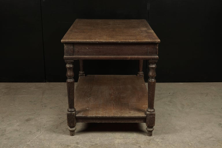 European French Console Table in Oak, circa 1920 For Sale