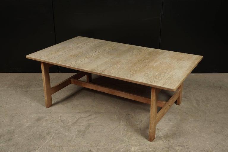 MidCentury Oak Coffee Table Designed By Kurt Ostervig Denmark - Mid century oak coffee table