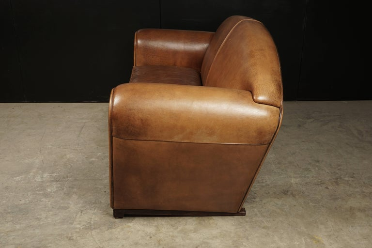 Mid-Century Modern Rare Midcentury Leather Sofa From the Netherlands, circa 1970 For Sale