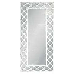 Venetian White Murano Glass Mirror by Fabio Ltd