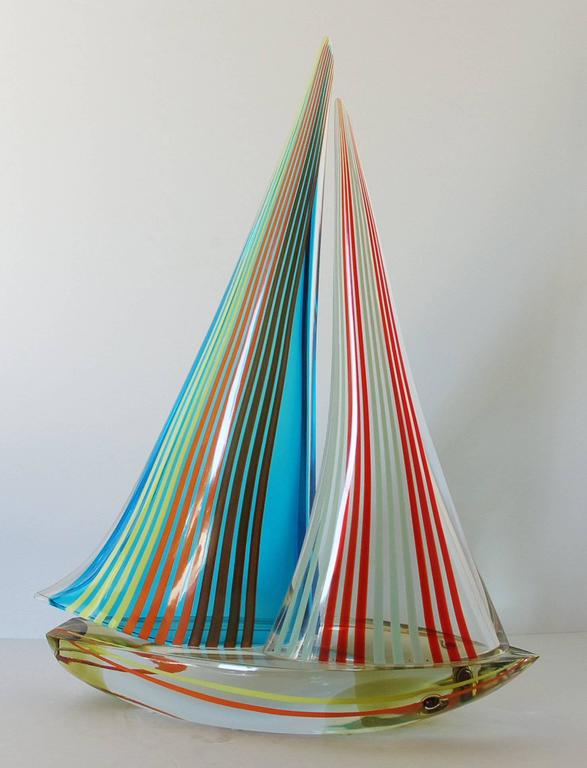 Modern Sailboat Sculpture by Alberto Dona' For Sale