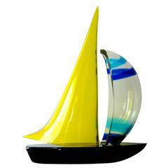 Sailboat Sculpture by Romano Dona'