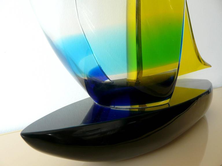 Murano Glass Murano Sailboat by Romano Dona' For Sale