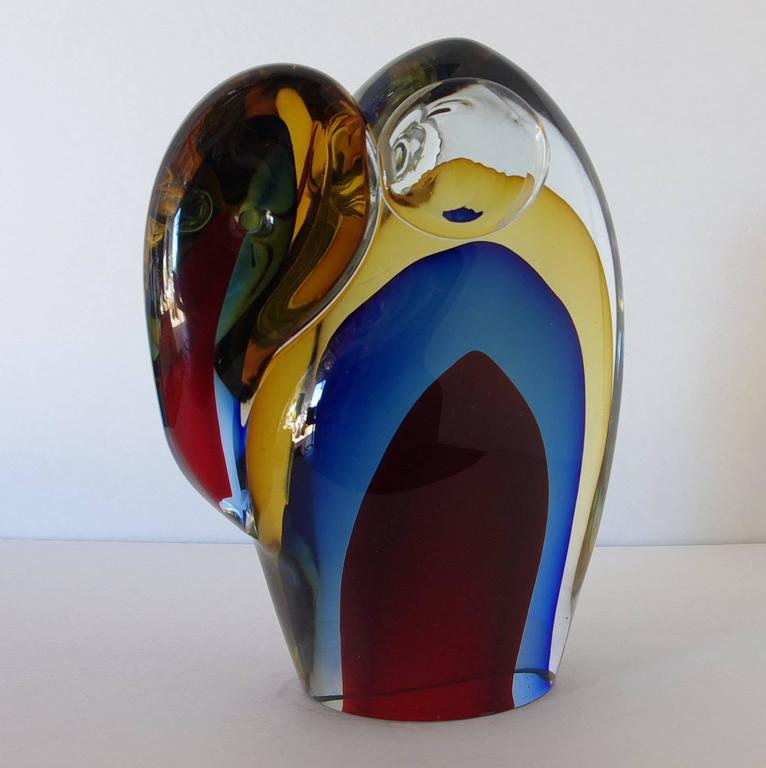 Murano Elephant Sculpture Sommerso Glass by Romano Dona 2