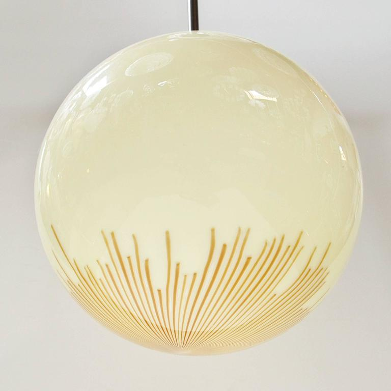 Mid-Century Modern Two Anemone Pendants by Venini For Sale