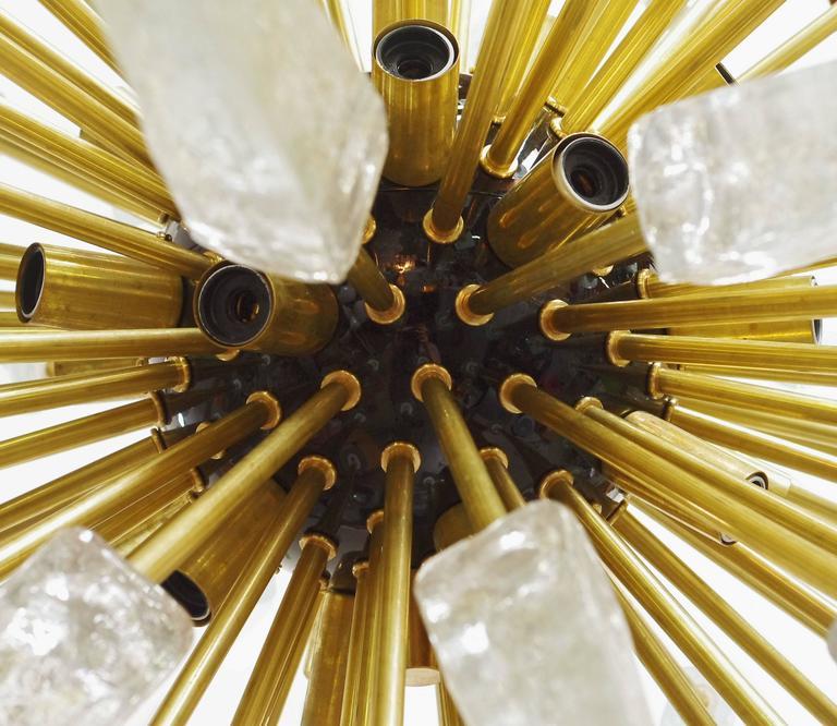 Murano Scherben und Messing Sputnik 8