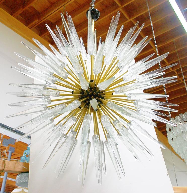 Murano Scherben und Messing Sputnik 2