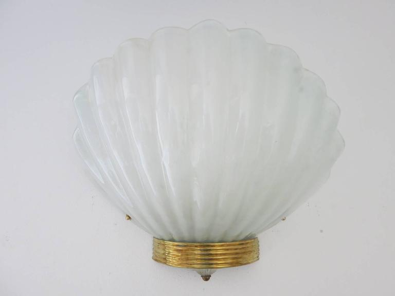 Fifteen oversized frosted Murano glass sconces by Barovier e Toso