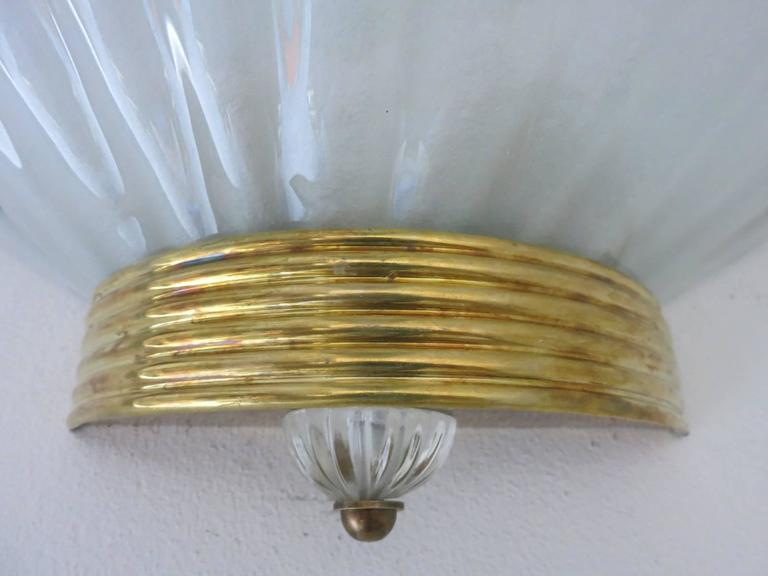 Mid-Century Modern Fifteen Oversized Murano Shell Sconces by Barovier e Toso For Sale