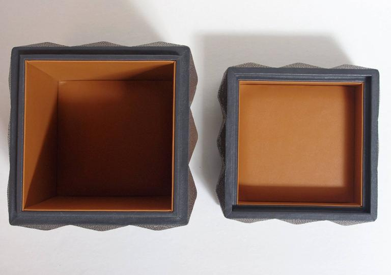 Pyramid Gray Shagreen Box by Fabio Ltd For Sale 1