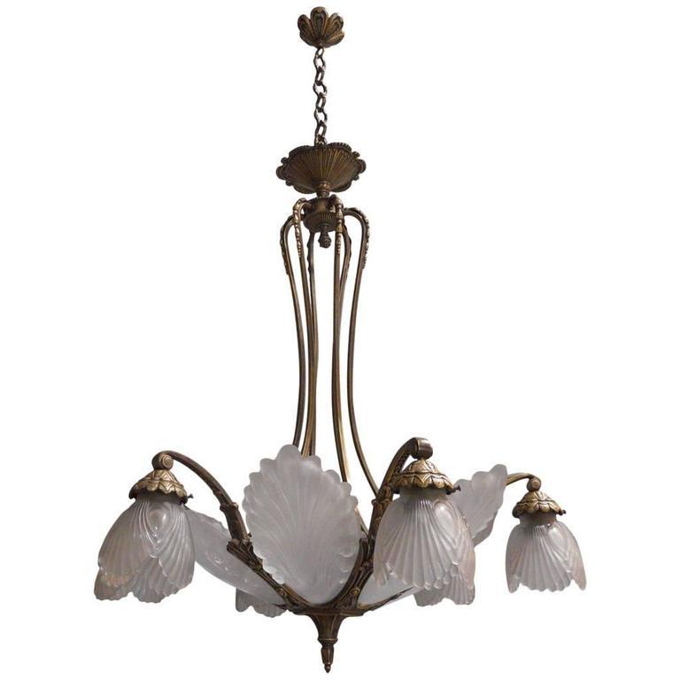 French Art Deco Chandelier