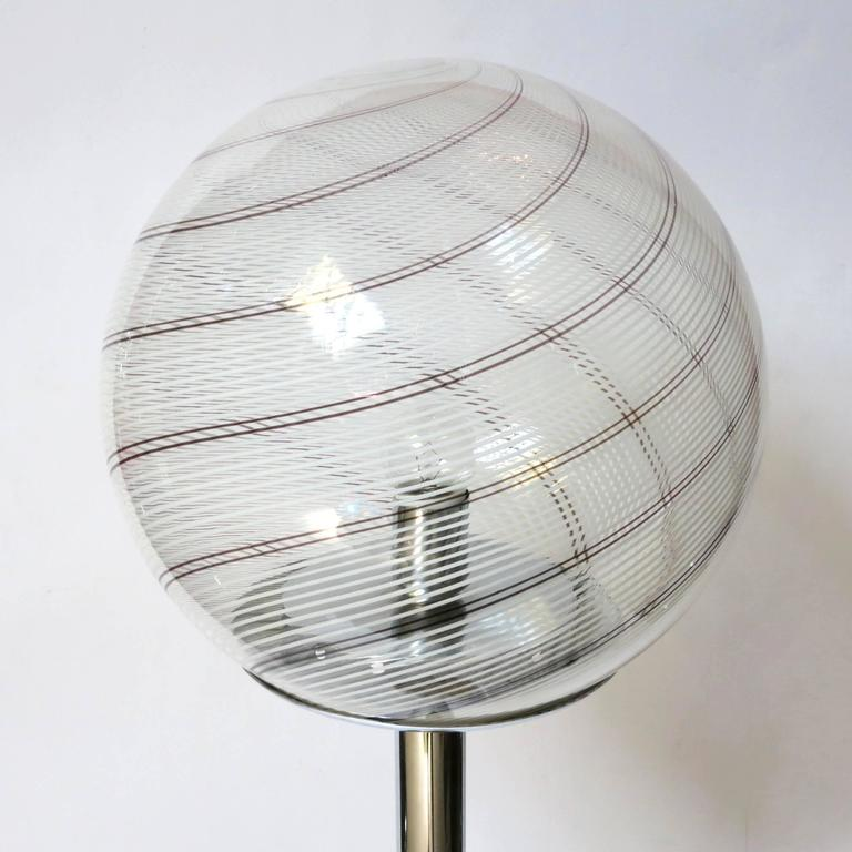 Mid-Century Modern Swirl Floor Lamp by Venini FINAL CLEARANCE SALE For Sale