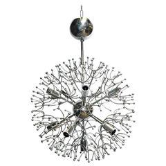 Italian Mid-Century Chrome Sputnik Chandelier by Sciolari