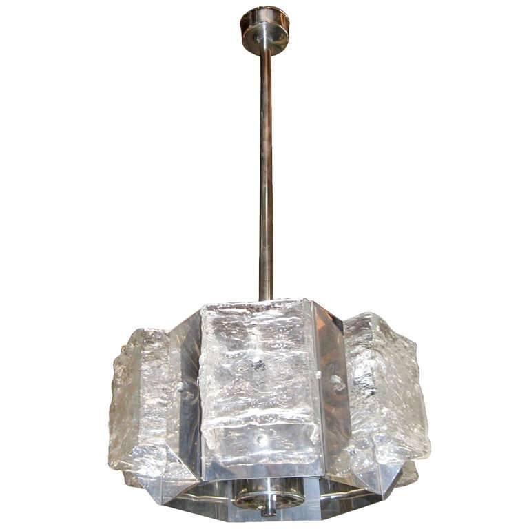 Hexagonal Pendant by Mazzega For Sale