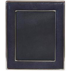 Black Shagreen Nickel-Plated Photo Frame