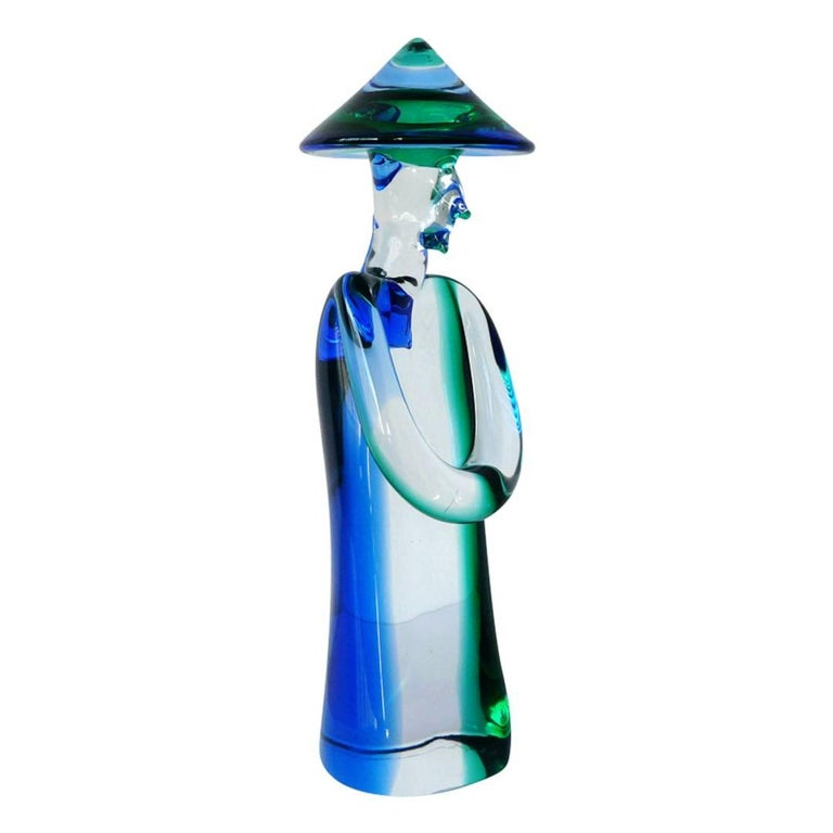 Stefano Toso Satin Glass China Man - The Silver Fund