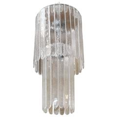 Murano Clear Glass Cascade Chandelier by Leucos